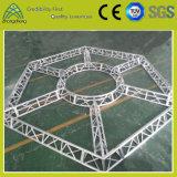 Ферменная конструкция согласия этапа освещения шестиугольного круга представления алюминиевая