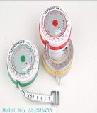Cinta métrica promocional de la cintura BMI del regalo de la fibra de vidrio (ASJ51)