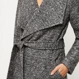 2016 solapas anchas grises del último estilo ceñieron la capa del traje para las mujeres