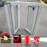 Finestra bassa di effetto lustrata doppio di vetro PVC/UPVC Hurrican di E