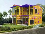 Casa de la alta calidad económica del bajo costo/chalet móviles prefabricados/prefabricados