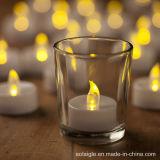Sostenedor de cristal sin llama de la luz del té de la opción LED de los colores