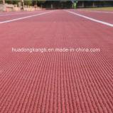 Oppervlakte van de Renbaan van het stadion de Rubber, de RubberMat van de Vloer
