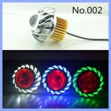 Farben-Scheinwerfer-Motorrad-Projekt-Objektiv-Engels-Augen der Legierungs-Material kundenspezifische LED