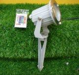 ステンレス鋼9W LEDの景色の庭のスパイクはつける220V (JP83832-H)を