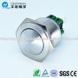25mm de Kortstondige Schakelaar van RoHS van de Drukknop van het Roestvrij staal Spdt (QN25-B2)