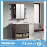 Amerikanische populäre klassische festes Holz-Badezimmer-Zubehör mit Spiegel-Schrank (BV112W)