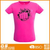 T-shirt de funcionamento da potência dos esportes das mulheres