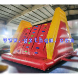 Commercial Rock Inflatable Climbing Walls / Giant Colorful Outdoor Inflatable Climbing Wall