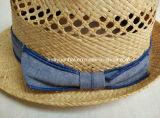 정밀한 라피아 야자 밀짚 손은 중절모 밀짚 모자를 만들었다