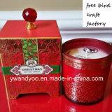 Vela Home luxuosa do Natal da soja de Decro Scetned no frasco vermelho