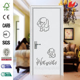 Porte intérieure gracieuse de PVC de Deeshahot