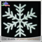 백색 점화된 밧줄 빛 크리스마스 눈송이 빛 IP44