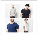 남자를 위한 2016의 최신 판매 도매 백색 공백 면에 의하여 주문을 받아서 만들어지는 t-셔츠
