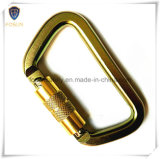 Yellow Zinc Plating의 찬 Formed Steel Carabiner