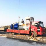 Blocchetto concreto del cemento dei materiali da costruzione che fa macchina