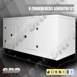 генератор 1500kVA 50Hz звукоизоляционный тепловозный приведенный в действие Perkins (SDG1500PS)
