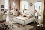 حديثة ليّنة سرير جلد لوحة رأسيّة غرفة نوم أثاث لازم ملكة حجم سرير