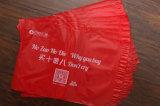 Saco de transporte de roupas de poliéster de cor vermelha para embalagem