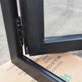 Thermischer Bruch-Aluminiumprofil-Flügelfenster-Tür mit Stahlmoskito-Netz und Rasterfeld innerhalb des doppelten Glases Kz277