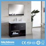 Gabinete clásico de baño de madera sólida clásico con tablones (BV136W)