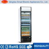 Refrigerador ereto do indicador do refresco da porta de vidro transparente