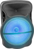 15 인치 무선 사운드 시스템 휴대용 재충전용 트롤리 스피커 플라스틱 액티브한 스피커 상자 Cx 15D