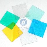 Panneau décoratif coloré de polycarbonate en plastique de feuille de relief par PC