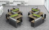 Conjunto linear moderno do escritório para a estação de trabalho de 6 pessoas (HF-K08)