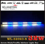 Dual Color LED Traffic Advisor 32LED Seta Stick Strobe Light