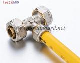 Латунный штуцер обжатия для трубы Pex-Al-Pex/латунного тройника обжатия