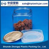 Lata plástica do alimento do animal de estimação quadrado