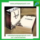 El partido de papel de lujo empaqueta bolsos de la gallina de la boda del regalo de Kraft