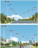 batería solar de las lámparas de calle de los 8m poste 30W LED en tapa