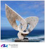 전망대 대리석 추상적인 조각품 돌 예술과 기술