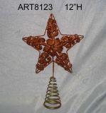 Decorazione di Regalo-Natale della parte superiore dell'albero del metallo di Buon Natale