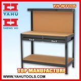 Stahlwerktisch-Arbeits-Tisch mit perforiertem Panel und Fach (WT006)