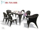 Insieme pranzante esterno del rattan esterno della mobilia di svago