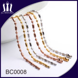 L'or en gros a coloré le collier plaqué de chaîne de talon de bille