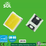 High Voltage 18V 30mA 60-65lm Epistar Span 2835 SMD LED (CE LM-80)