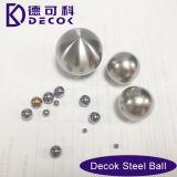 Ornamento cepillado del jardín de la esfera del acero inoxidable que mira la bola