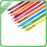 Шнурок ботинка полиэфира экрана цветастый напечатанный материальный полый (HN-XD-3678)