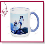 15oz Blank Sublimation Mugs con Rim variopinto e Handle