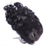Indian Remy peruca de cabelo humano 130% / 150% Densidade Novo design de moda Onda natural indiana Bleached Knots Medium Brown Color Hair of Lace