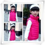 子供のジャケット604のための冬の女の子の毛皮のジャケット