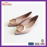 Deslizadores cómodos superiores de los zapatos de las mujeres del cuero genuino