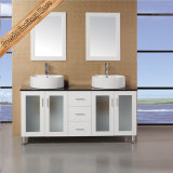 Fed-1876 Hot Selling Glass Top Vessel Ceramic Sink Modern Cabinets