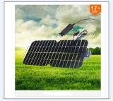 5.5W 18V che piega comitato solare semi flessibile con alta efficienza