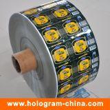 주문 롤에 의하여 인쇄되는 자동 접착 스티커 레이블