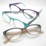Injection magro elegante Design Reading Glasses com Spring Hinge